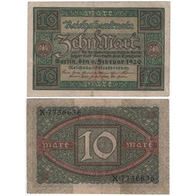 Německo - bankovka 10 marek 1920