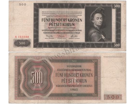 500 korun 1942, I. vydání, série A, neperforovaná
