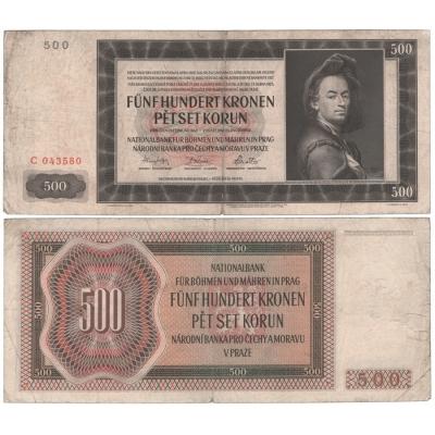 500 korun 1942, I. vydání, série C, neperforovaná
