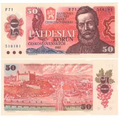 50 korun 1987 UNC, série F71