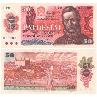 50 korun 1987 UNC, série F72