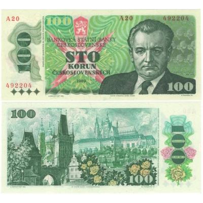 100 korun 1989 série A20