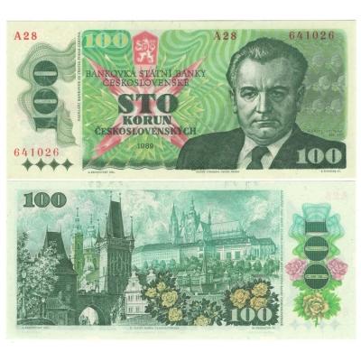 100 korun 1989 série A28