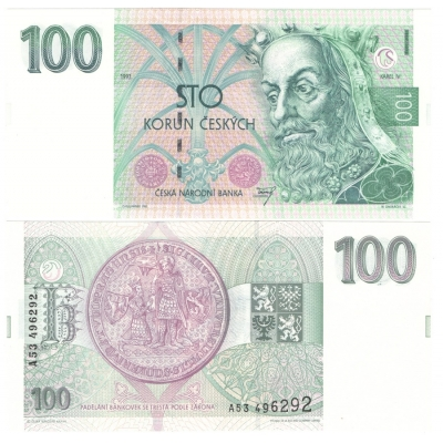 100 korun 1993 UNC, série A