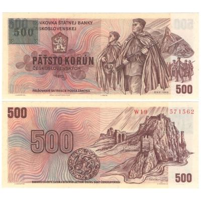 500 korun 1973 UNC, kolek Česká republika