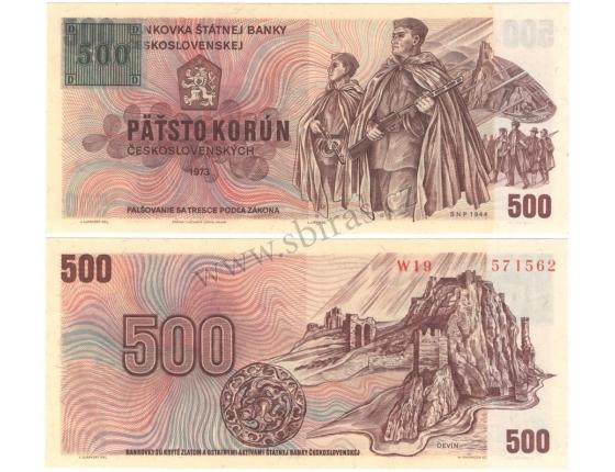 500 korun 1973, kolek Česká republika