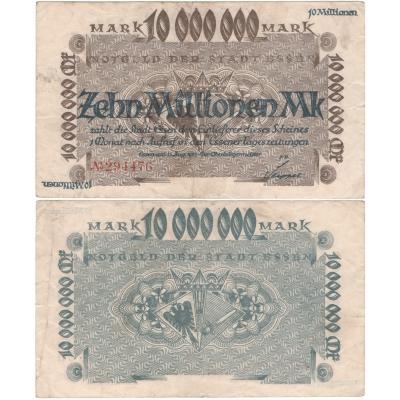 Německo - bankovka 10 000 000 Marek 1923 ESSEN