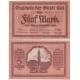 Německo - bankovka 5 Marek 1918 - KIEL