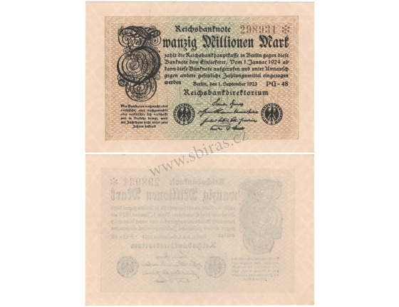 Německo - ankovka 20 000 000 Marek 1923 BERLÍN