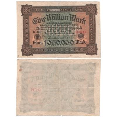 Německo - bankovka 1 000 000 marek 1923