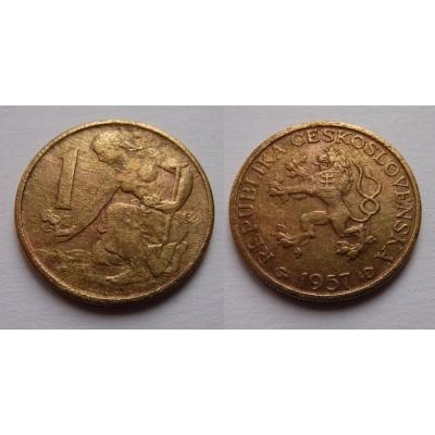 1 koruna 1957