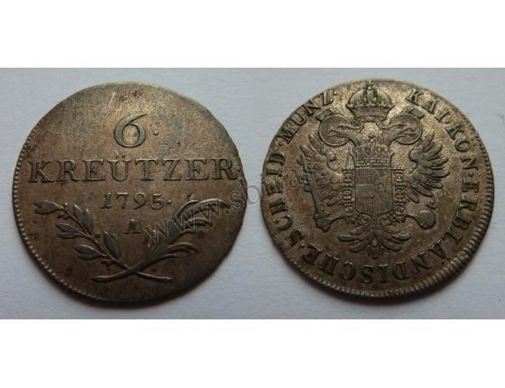 6 krejcarů 1795 A