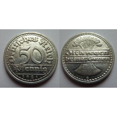 Německo - 50 Pfennig 1921 G