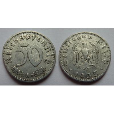 Německo - 50 Reichspfennig 1935 A
