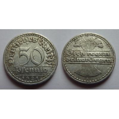 Německo - 50 Pfennig 1921 A