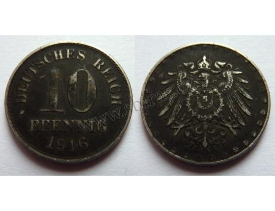 10 pfennig 1916 F