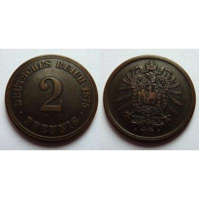 Německé císařství - 2 Pfennig 1875 J