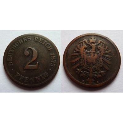 Německé císařství - 2 Pfennig 1875 C