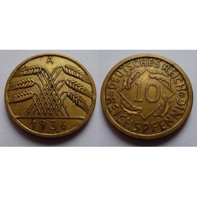 Německo - 10 reichspfennig 1936 A