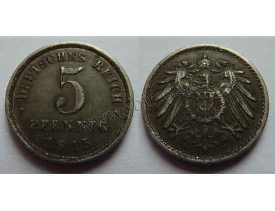 5 pfennig 1915 A