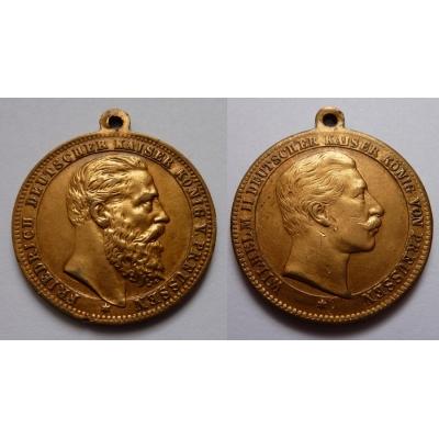Němečtí císaři - oboustranná medaile