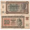 Slovenský štát - bankovkav 20 korun 1942, neperforovaná