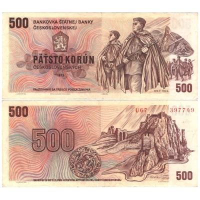 500 korun 1973, série U
