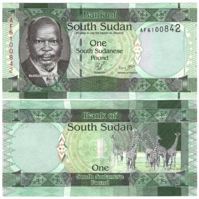Jižní Súdán - bankovka 1 pound