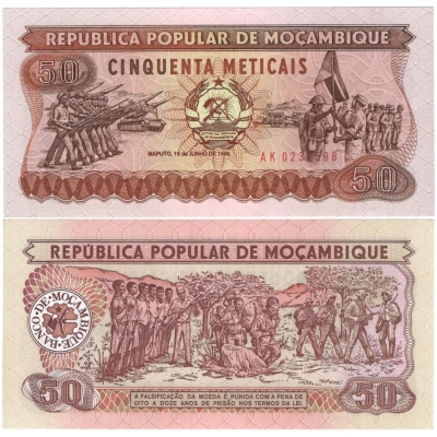 Mosambik - bankovka 50 Meticais 1986 UNC