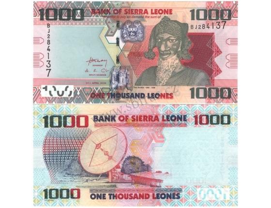 Sierra Leone - bankovka 1000 leones 2010 UNC