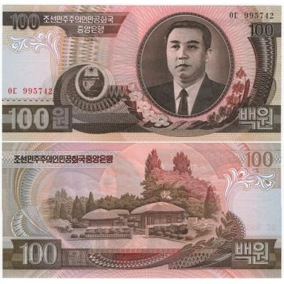 KLDR - bankovka 100 won 1992 UNC