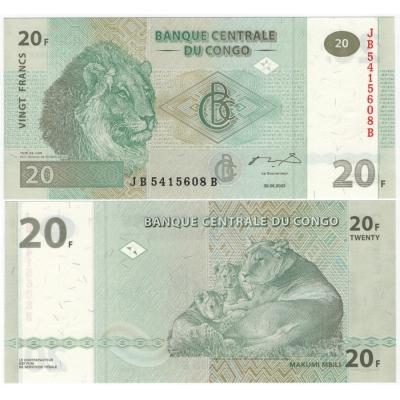 Kongo - bankovka 20 francs 2003 UNC