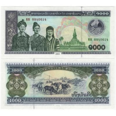 Laos - bankovka 1000 kip 2003 aUNC