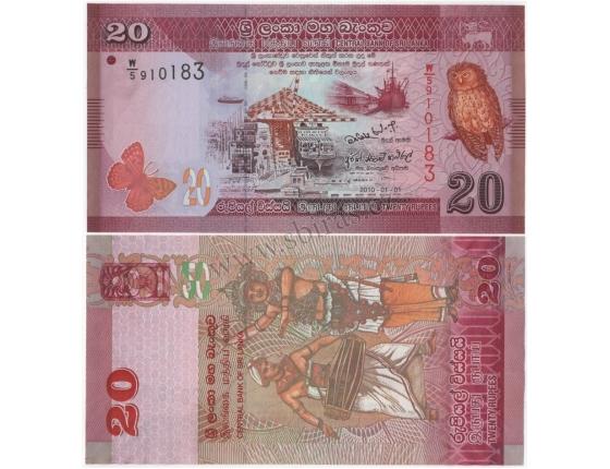 Srí Lanka - bankovka 20 rupees 2010 UNC