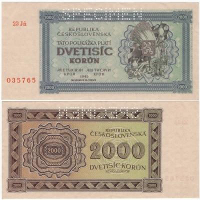 2000 korun1945 nevydaná