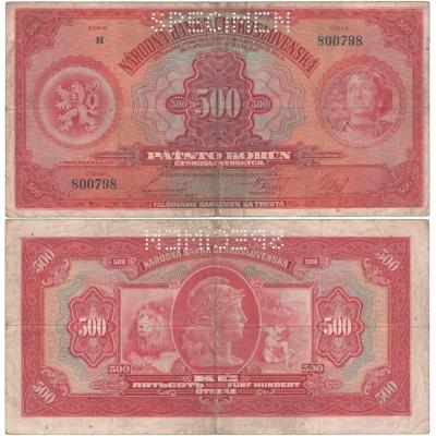 500 korun 1929, série H