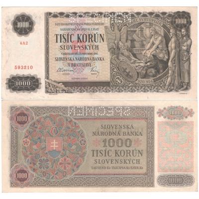 Slovenský štát - 1000 korun 1940