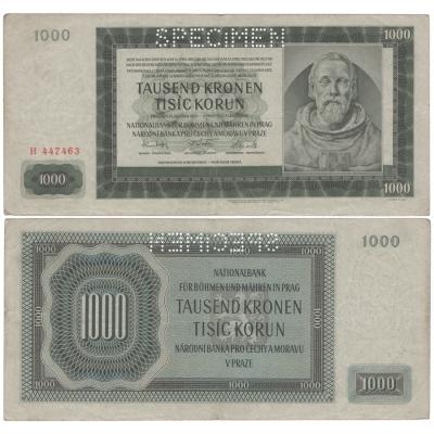 1000 Kronen 1942 H