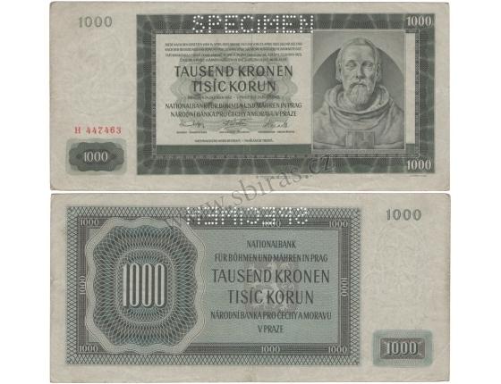 1000 korun 1942 H