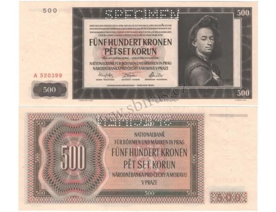 500 korun 1942, I. vydání, série A