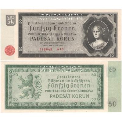 50 korun 1940, série A