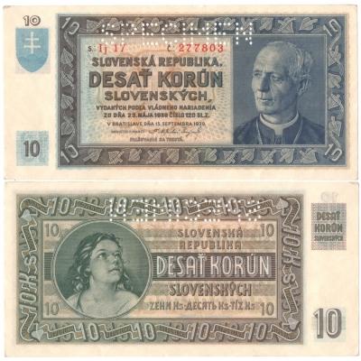 Slovenský štát - 10 korun 1939