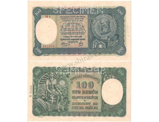 Slovenský štát - 100 korun 1940