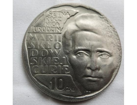 Polsko - 10 zlotych 1967 Maria Skłodowska-Curie