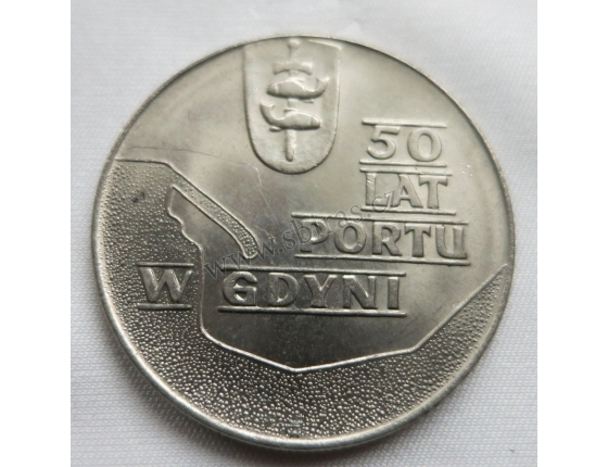 Polsko - 10 zlotych 1972 - 50 lat portu w Gdyni