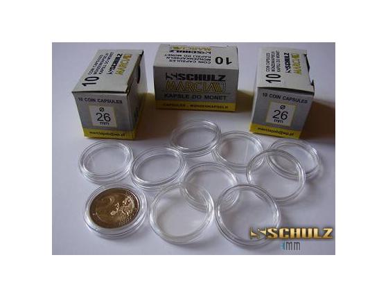 10 x kapsle na mince 26 mm