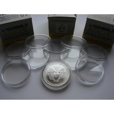 Kapsle na mince 41 mm - 10 KUSŮ