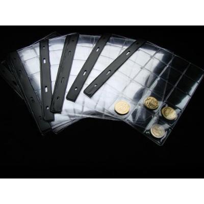 Náhradní list do alba na mince 5x4 (20 mincí) - sada 10 kusů