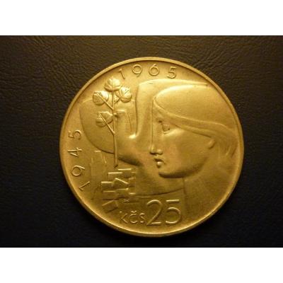 25 korun 1965 - dvacáté výročí osvobození Československa