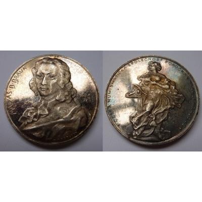 Matyáš Braun - medaile České numismatické společnosti, pobočka Hradec Králové